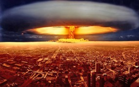 Обои Ядерный взрыв: Город, Взрыв, Гриб, Фэнтези