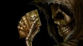 Обои Игра со смертью: Смерть, Игра, Карты, Фэнтези