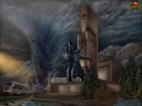 Обои ВВЦ: СССР, Памятник, Статуя, Фэнтези