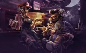 Обои марио и стрит файтер: Марио, Бар, Стритфайтер, Водопроводчик, Фэнтези