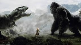 Обои человечишко: Динозавр, Женщина, Обезьяна, Фэнтези