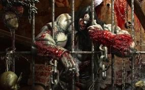 Обои заключенный: Решетка, Монстр, Тюрьма, Фэнтези