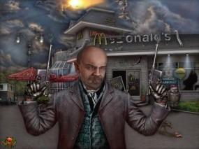 Обои Ленин у макдоналдса: АриSt@Rх, Ленин, Кафе, Фэнтези