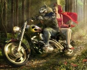 Обои Волк и красная шапочка: Волк, Красная шапочка, Фэнтези