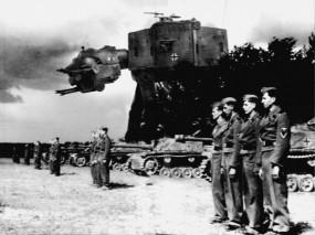 Обои Робот рейха: Робот, Солдаты, Звездные войны, Чёрно-белая, Рейх, Фэнтези