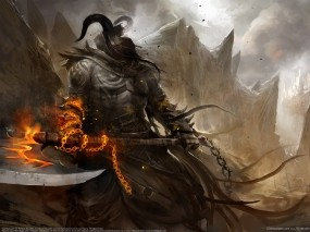Обои Безликий: Монстр, Демон, Топор, Фэнтези