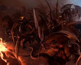 Обои Бесы: Демон, Ад, Бес, Фэнтези
