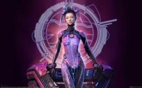 Обои Seok Chan Yoo: Костюм, Будущее, Фэнтези - Девушки