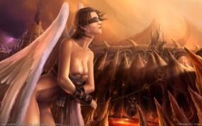 Обои Девушка-ангел: Девушка, Фентези, Ангел, Фэнтези - Девушки