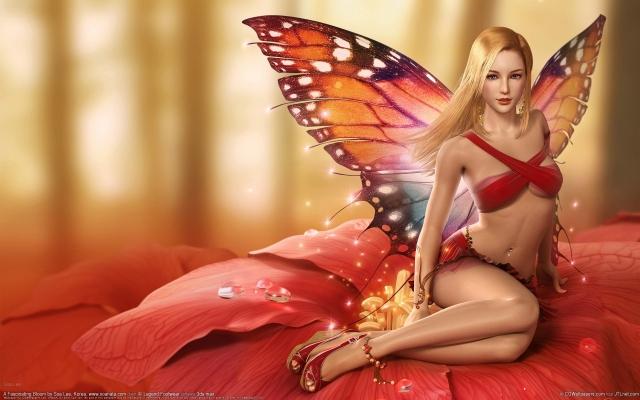 Девушка бабочка