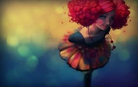 Обои Рыжеволосая девушка: Девушка, Кудри, Рыжая, Фэнтези - Девушки