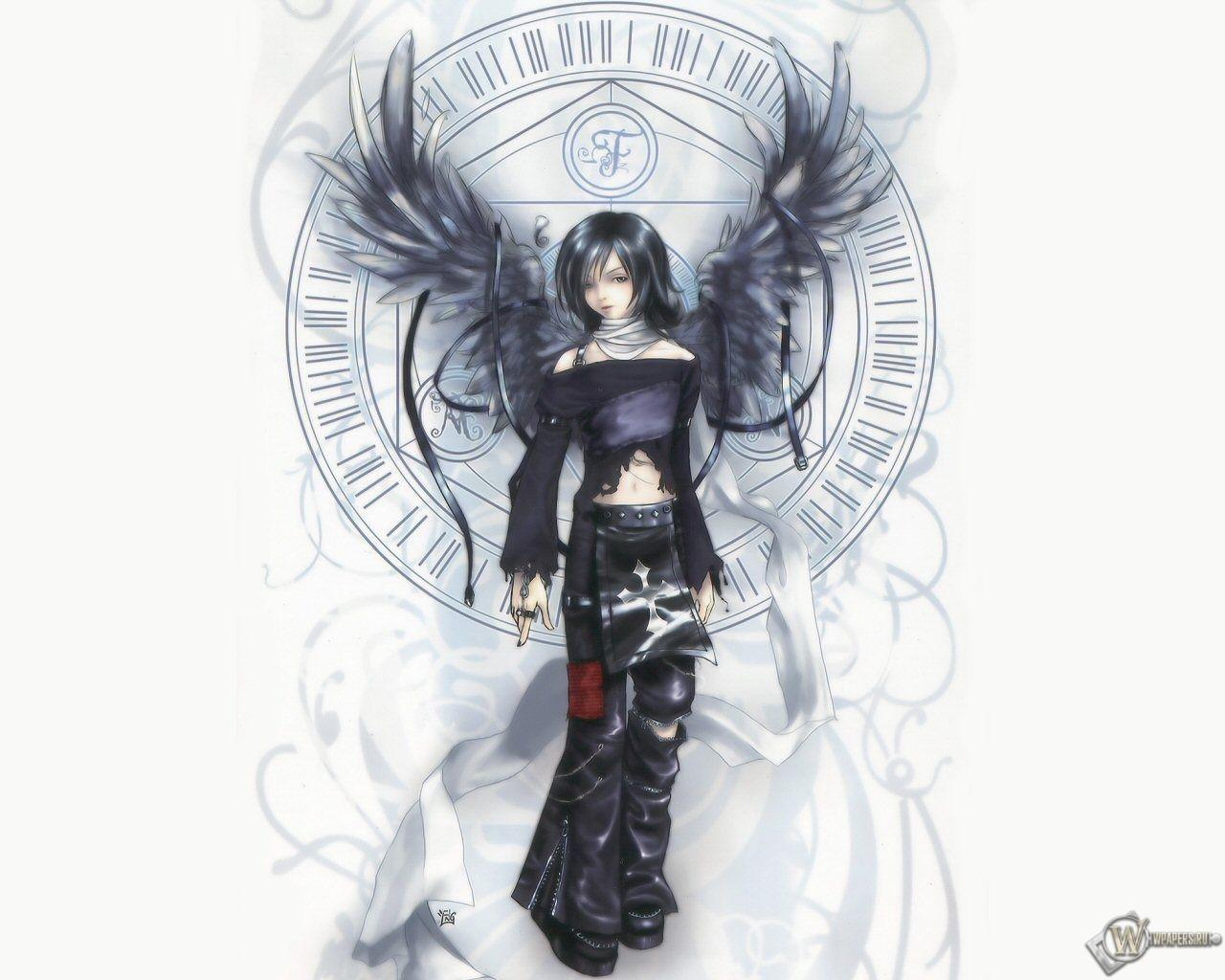 3D Девушка - ангел 1280x1024