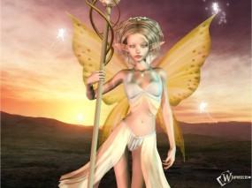 Обои 3D Девушка с крыльями: , Фэнтези - Девушки