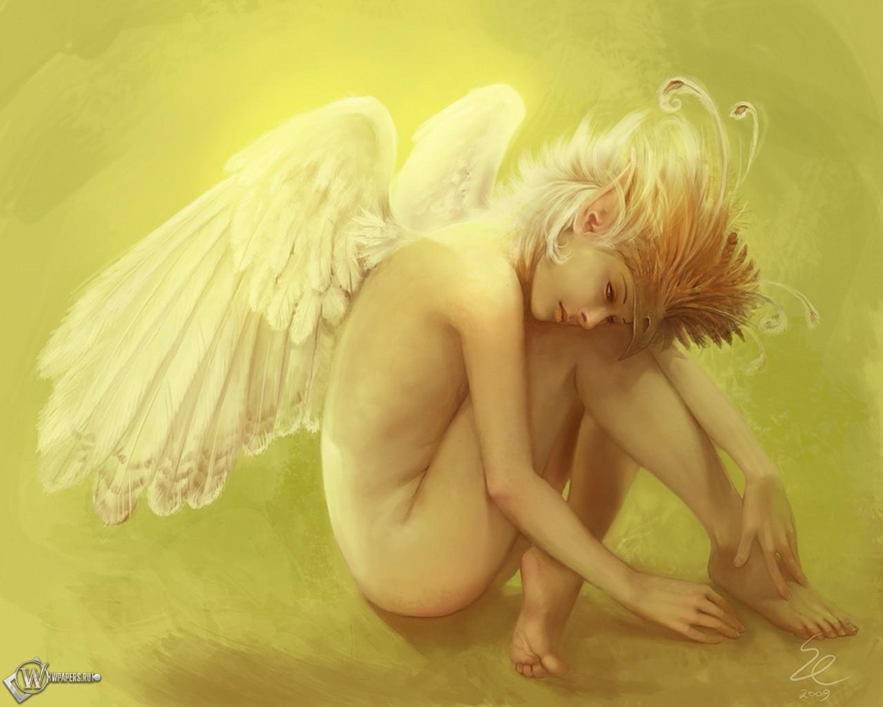 Девушка - Ангел 1280x1024