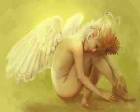 Обои Девушка - Ангел: Крылья, Ангел, Эльф, Фэнтези - Девушки
