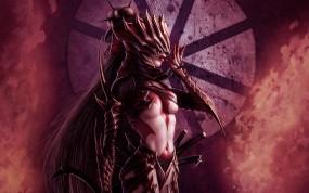Девушка демон