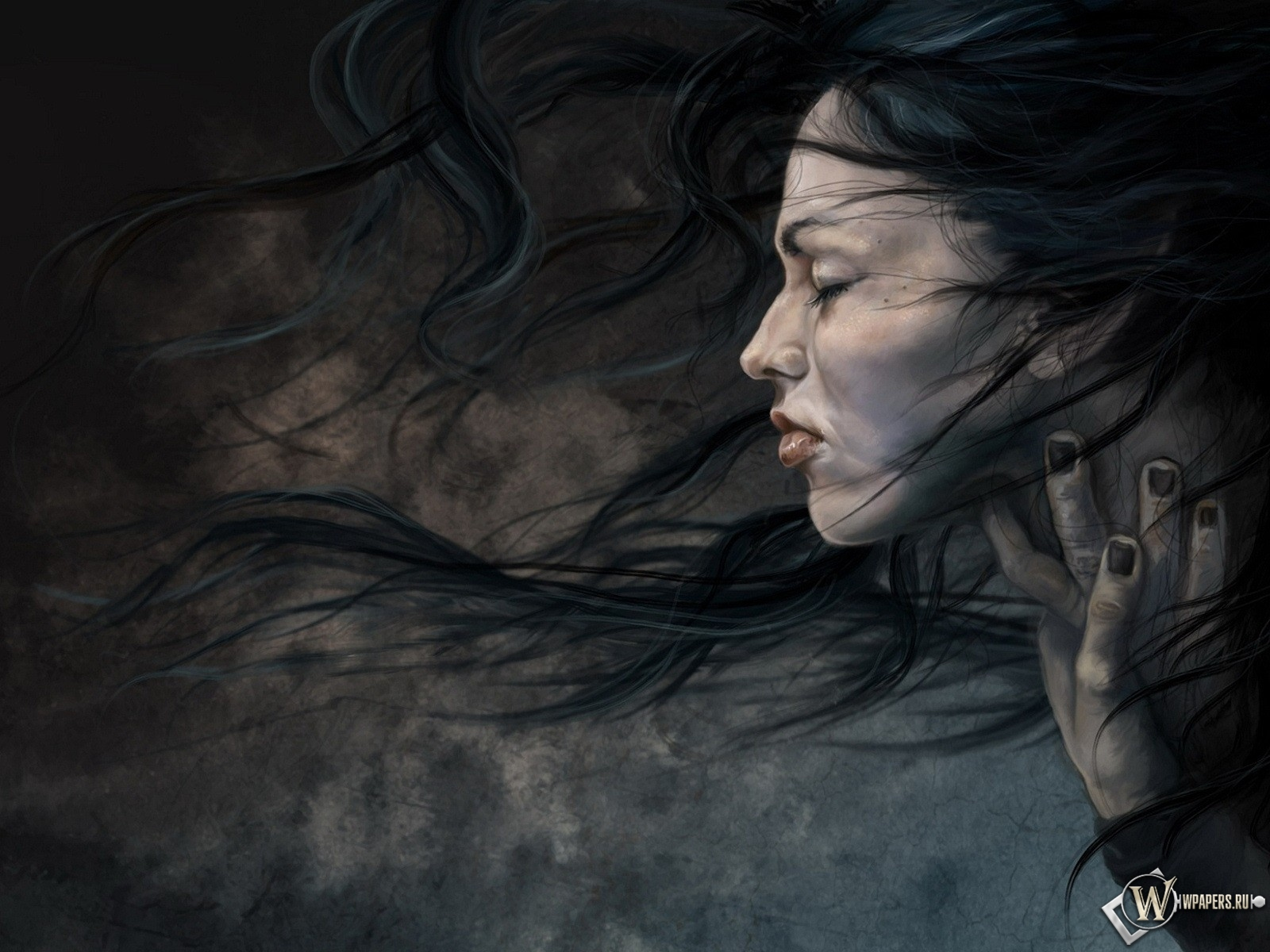 Мрачная девушка 1600x1200