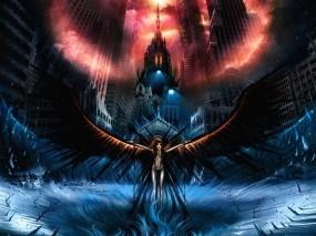 Обои Темный ангел: Мрак, Крылья, Темный ангел, Фэнтези