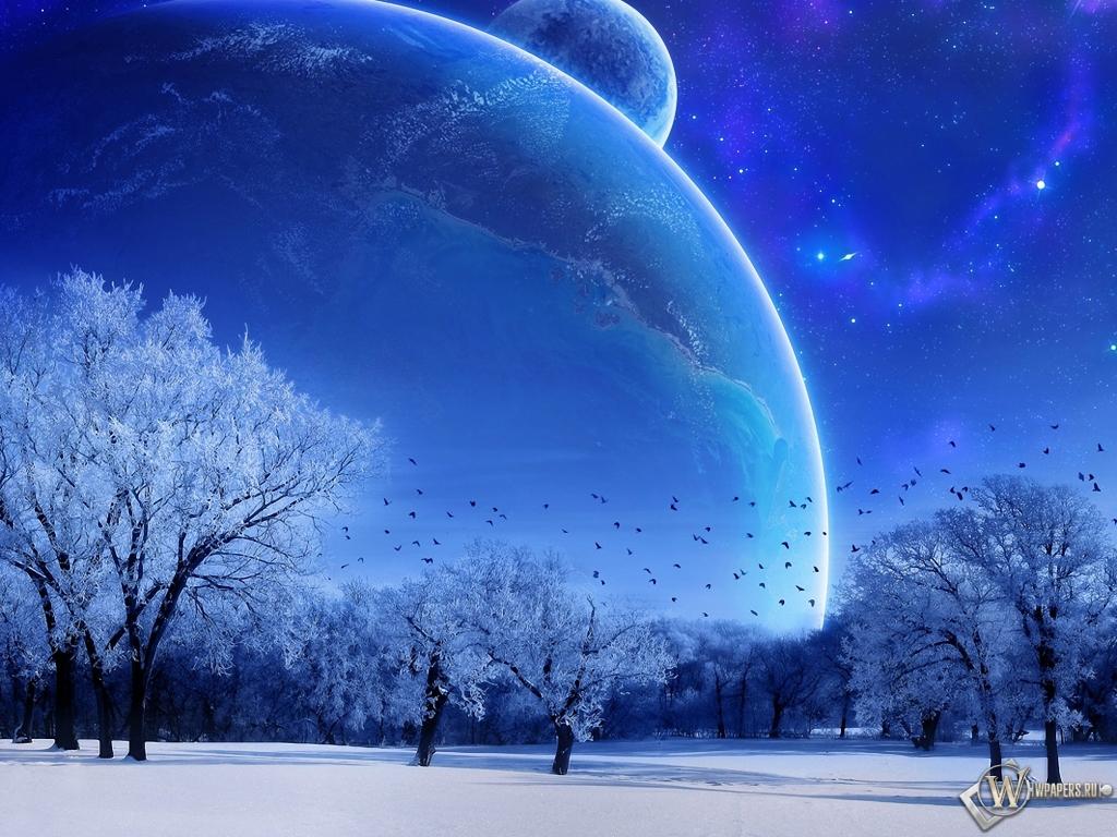 Зимняя фантазия 1024x768