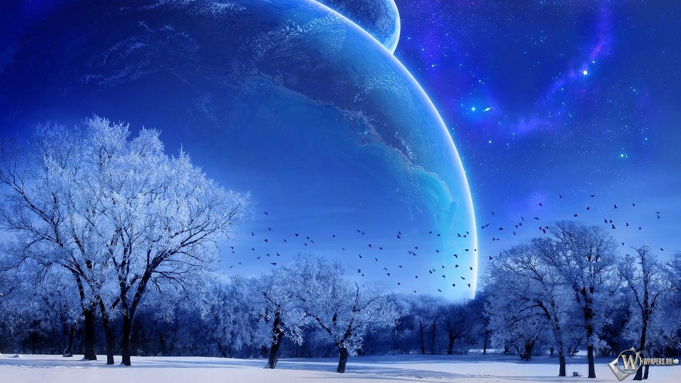 Зимняя фантазия 1366x768