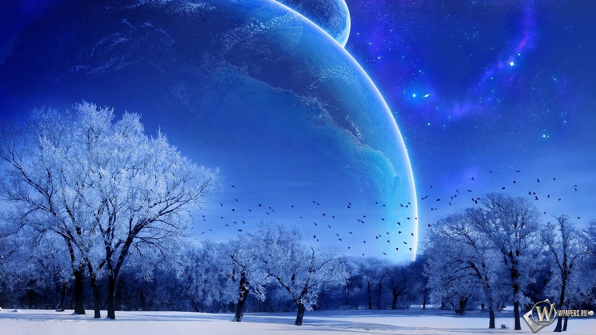 Зимняя фантазия 2048x1152