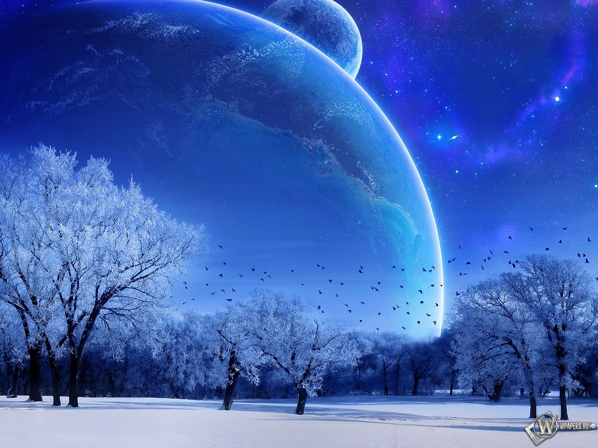 Зимняя фантазия 2048x1536