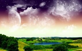 Обои 3D природа: Природа, Космос, Планета, Поляна, Фэнтези - Природа