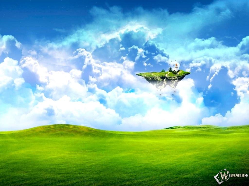 Летающий островок 1024x768