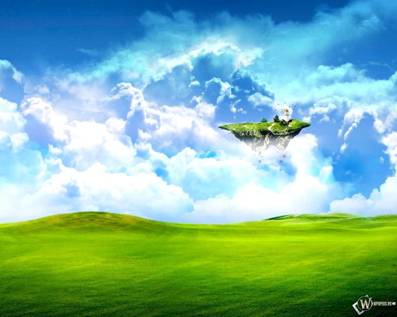 Летающий островок 1280x1024