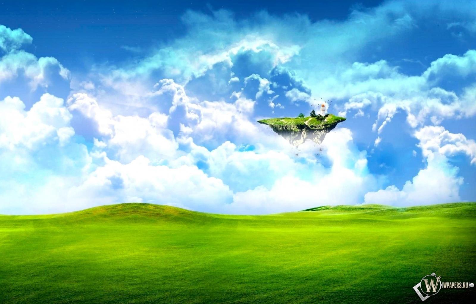 Летающий островок 1600x1024