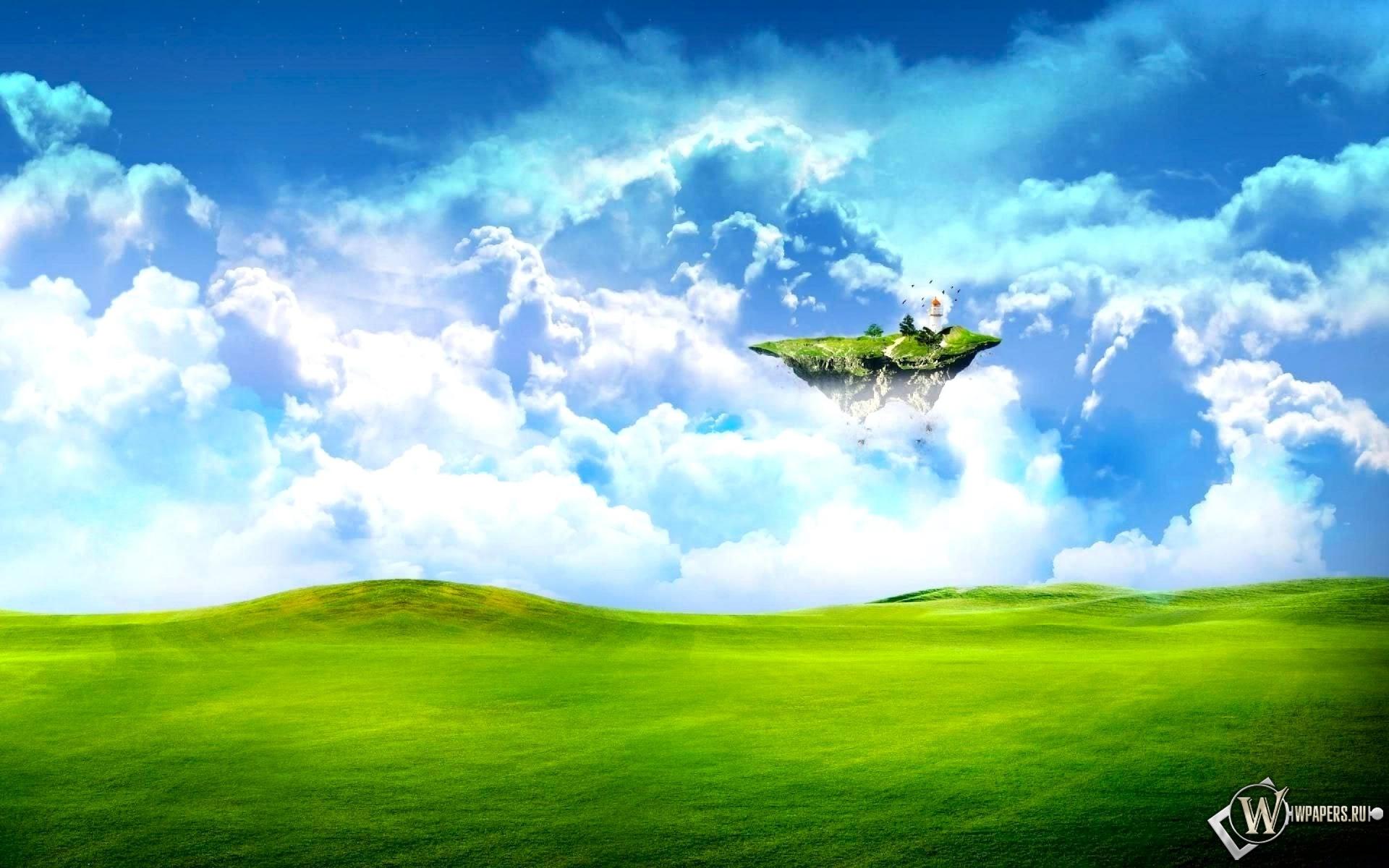 Летающий островок 1920x1200