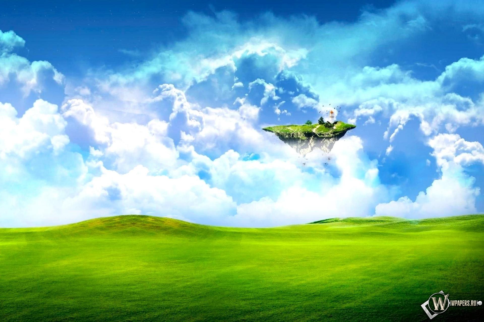 Летающий островок 1920x1280