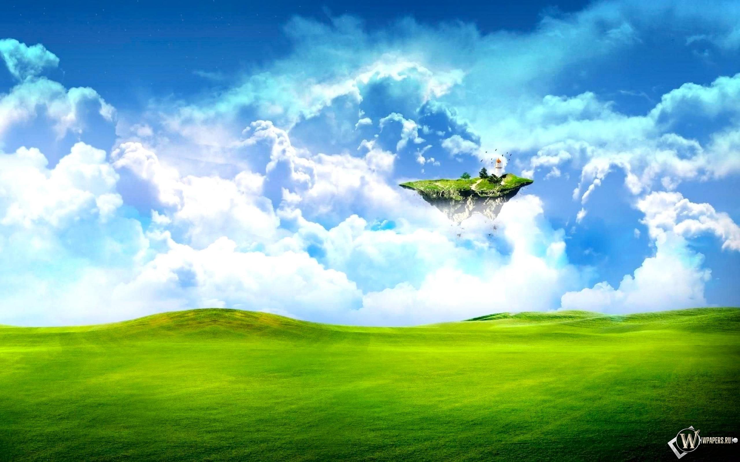 Летающий островок 2560x1600