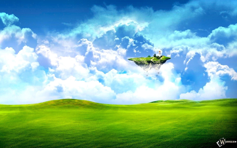 Летающий островок 2880x1800