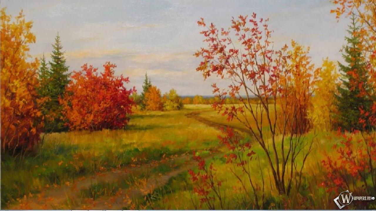 Осенний пейзаж 1280x720