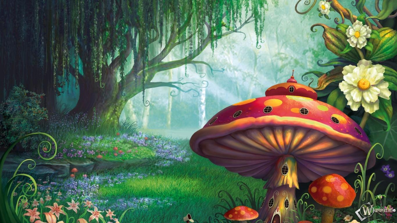 Сказочный лес  1366x768