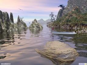 Обои 3D Заводь: , Фэнтези - Природа
