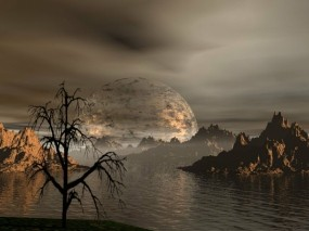 Обои 3D Природа: Горы, Вода, Планета, Фэнтези - Природа
