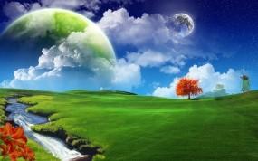 Обои Positive Energy: Фэнтези, Небо, Позитив, Фэнтези - Природа