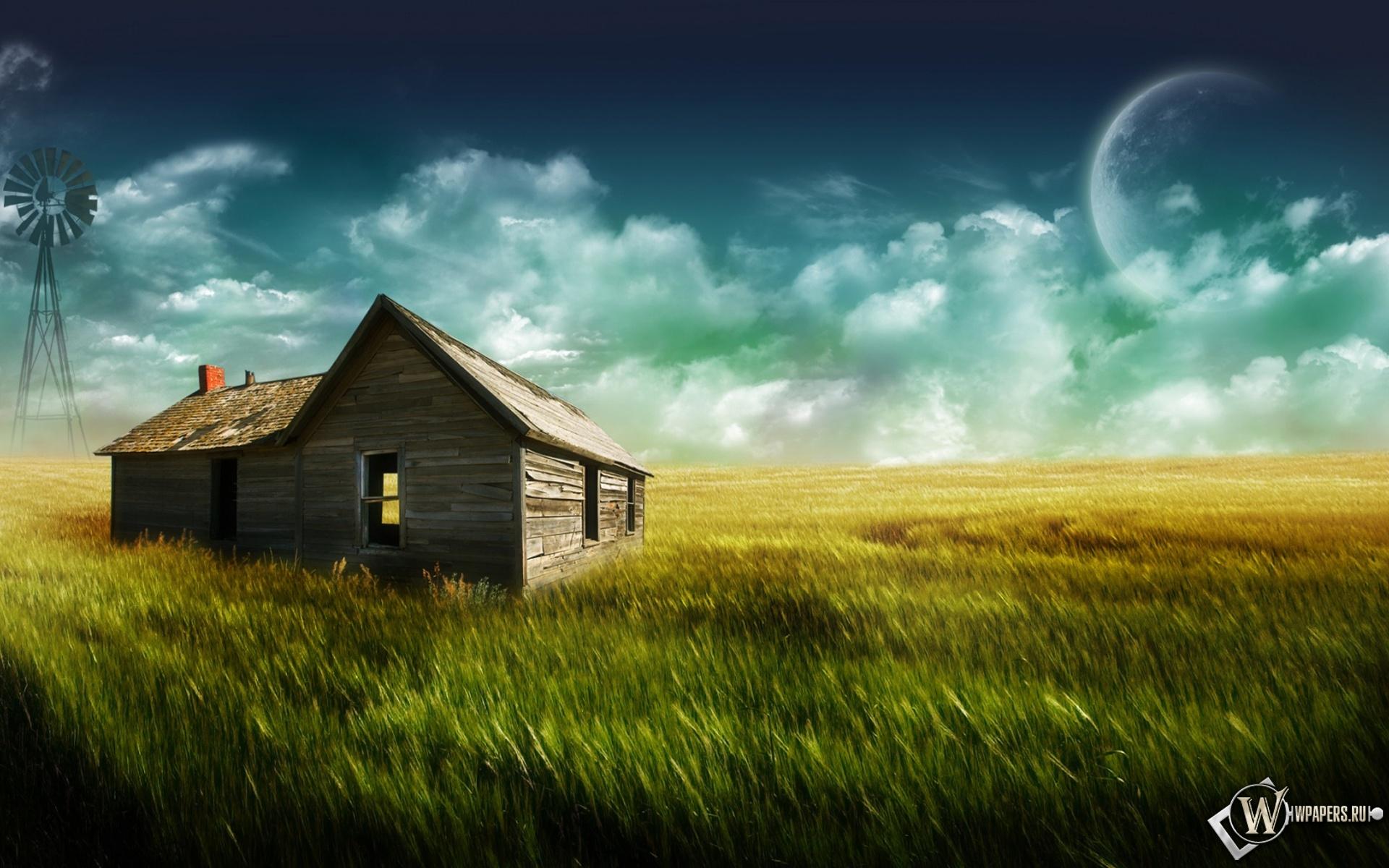 Дом в поле 1920x1200
