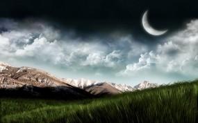 Обои Пейзаж: Горы, Планета, Трава, Небо, Фэнтези - Природа