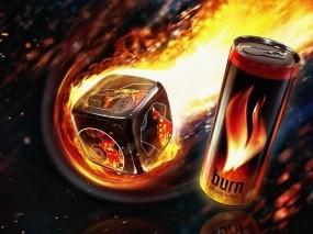 Обои Burn: Напиток, Энергетик, Еда