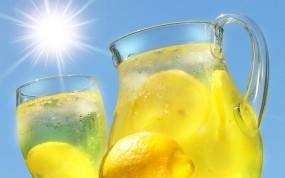 Обои Лимонад: Солнце, Напиток, Лимонный, Кувшин, Еда