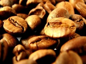 Обои кофейные зёрна: Кофе, Зёрна, Еда