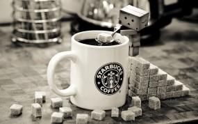 Обои Danbo с кофе: Кофе, Сахар, Кружка, Danbo, Еда