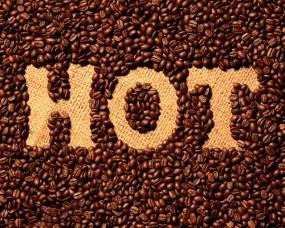 Обои Кофейные зёрна: Еда, Кофе, Надпись, Еда