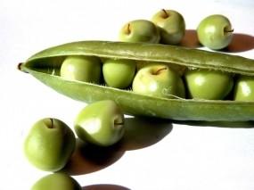 Обои Яблоки в стручке: Еда, Белый, Зелёный, Яблоки, Стручок, Еда