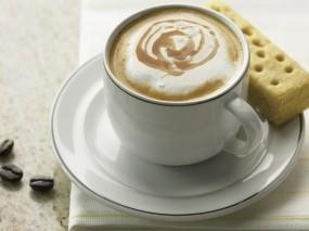 Обои Чашка кофе: Кофе, Чашка, блюдце, печенье, Еда
