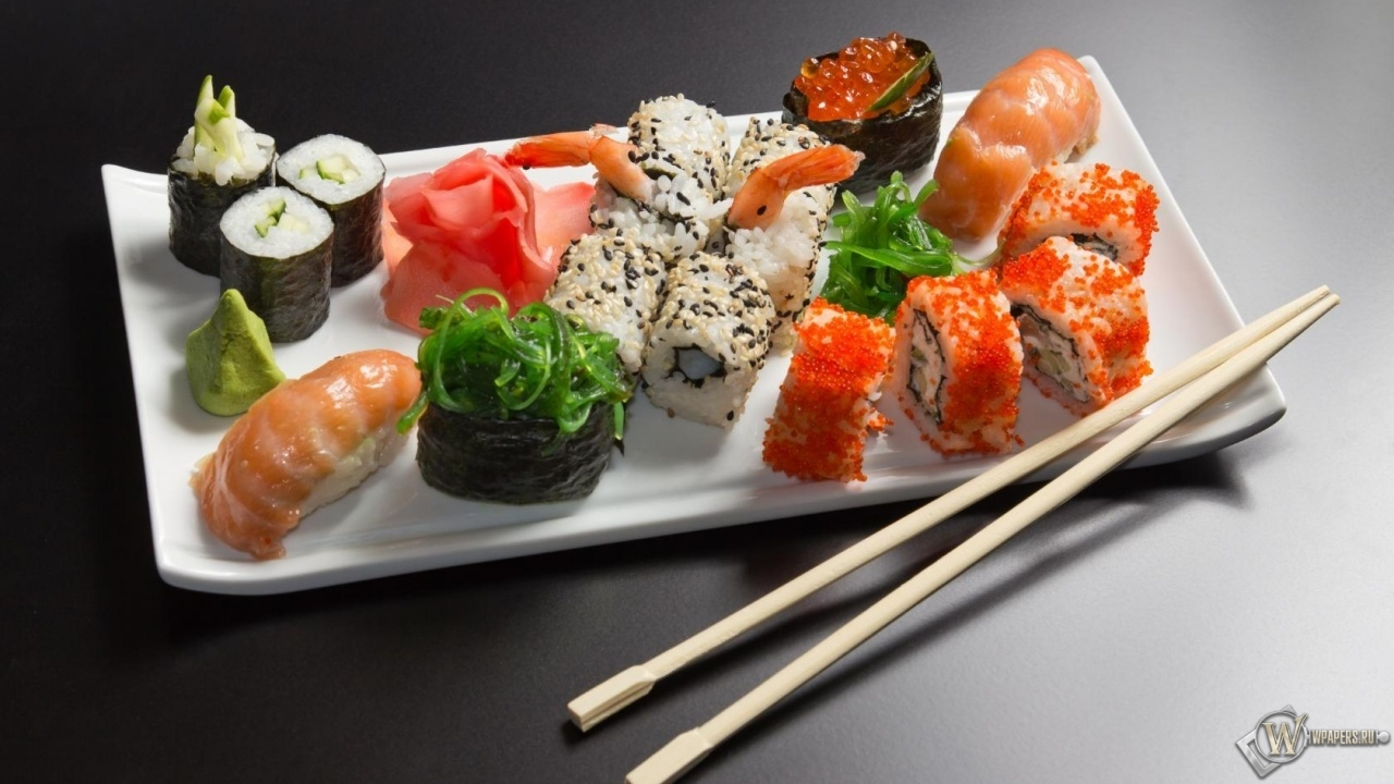 Суши и роллы 1280x720