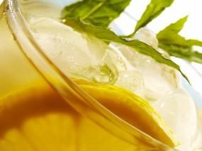 Обои Чай со льдом: Лимон, Лёд, Напиток, Еда